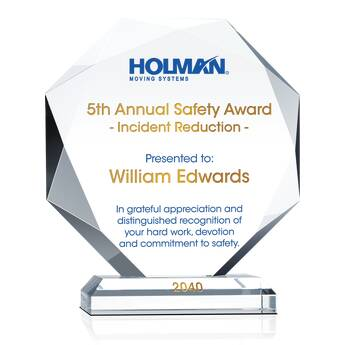 Annual Safety Recognition Award (#007-2)