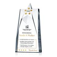 Crystal President's Club Sales Award Plaque