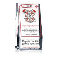 Deputy Fire Chief Retirement Gift Plaque