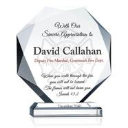 Religious Firefighter Appreciation Gift Plaque