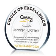 Real Estate Circle of Excellence Award Plaque