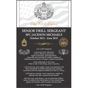 Drill Sergeant Service Appreciation Gift (#320-4)