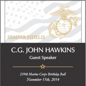 USMC Birthday Ball Guest Speaker Award (#305-3)