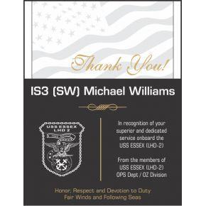 Appreciation Award for USS Sailor (#331-4)