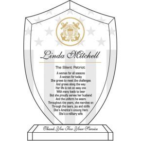 Military Wife Recognition Plaque (#339-4)