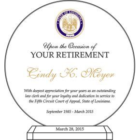 Court Clerk Retirement Award (#508-4)