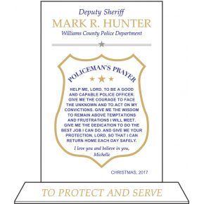 Deputy Sheriff's Prayer Plaque (#482-3)