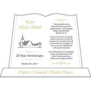 Pastoral 20 Year Anniversary Plaque (#267-5)