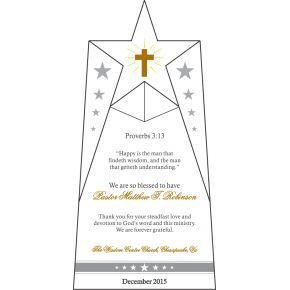 Appreciation Award for Church Pastor (#252-5)