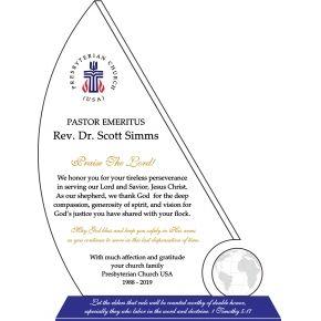 Religious Sponsor Gift Plaque (#035-4)
