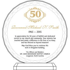 50th Pastoral Anniversary Gift for Pastor (#161-5)