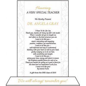 Best Teacher Appreciation Plaque (#527-2)