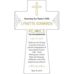 Pastor's Wife Anniversary Gift Wording (#555-3)