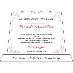 Sample 10th Ministry Anniversary Gift Plaque (#519-3)
