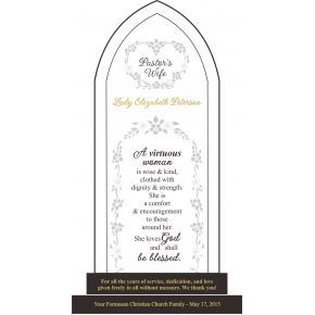 Pastor Wife Scripture Plaque (#559-1)
