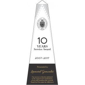 10 years of service award wording Sample (#574-3)