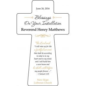 Gift Cross For Pastor Installation Diy Awards