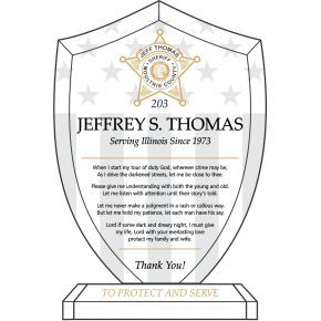 Sheriff's Prayer Gift Plaque (#583-2)