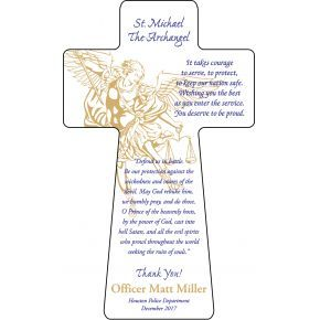 St. Michael Prayer Plaque for Police Officer (#584-2)