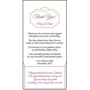 Graduation Appreciation Plaque for Parents (#591-2)