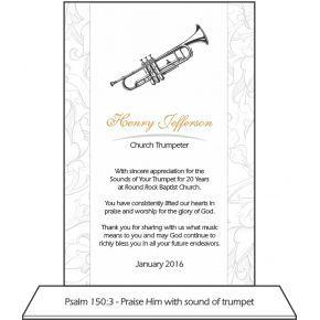 Music Minister Anniversary Plaque | DIY Awards