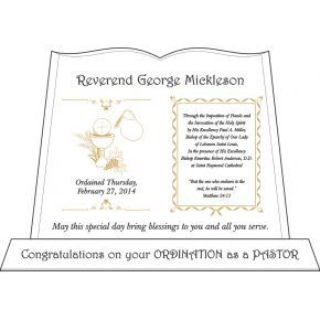 Minister Ordination Gift Plaque (#079-2)