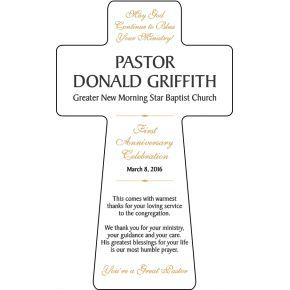 1st Pastoral Anniversary Gift Plaque (#616-2)