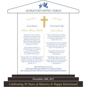Golden Anniversary Gift Plaque for Pastor and Wife (#624-4)