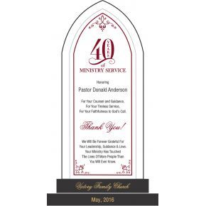 Celebrating 40 Years Of Ministry Gift Plaque (#623-3)