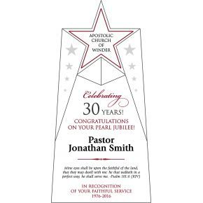 Pastor Anniversary Celebration Gift Plaque (#622-2)