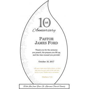 10th Anniversary Gift Plaque for Priest (#618-1)