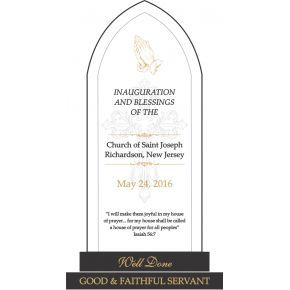 Church Inauguration Gift Plaque (#626-1)