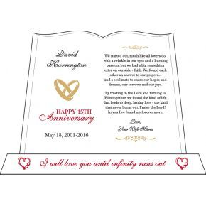 Christian Anniversary Infinity Heart Gift Plaque (#144-4)