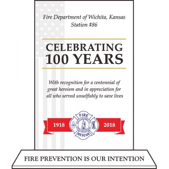 Fire Department Anniversary Celebration Plaque - DIY Awards