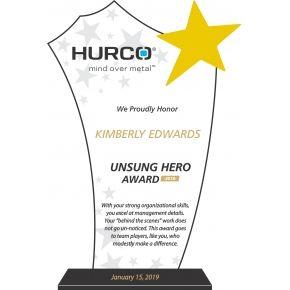 Crystal Unsung Hero Award Plaque Diy Awards