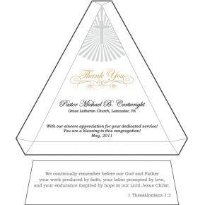 Thank You Pastor Appreciation Plaque (#297-1)