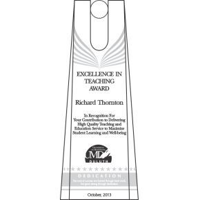 Excellence in Teaching Award (#118-1)