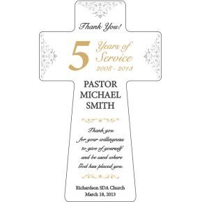 Pastoral Anniversary Recognition Plaque (#467-2)