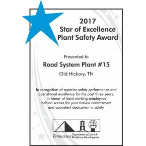 Plant Safety Award (#119-3)