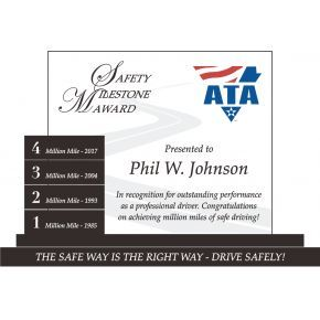 Million Miles Safety Plaque (#504-1)