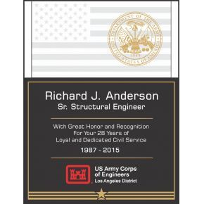 Sample Army Service Recognition Wording #1 (#321-1)