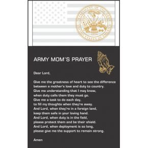 The Army Mom's Prayer Gift Plaque (#319-4)