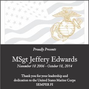 Sample USMC Appreciation Wording (#305-1)
