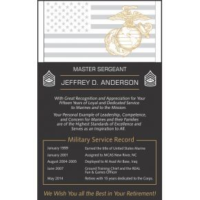 Marine Corps Retirement Wording #1 (#315-1)