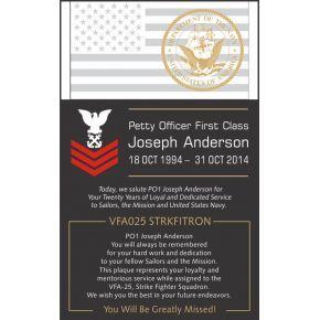 Sample Navy Retirement Wording #2 (#333-2)