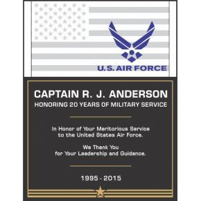 USAF Service Recognition Wording #1 (#308-1)