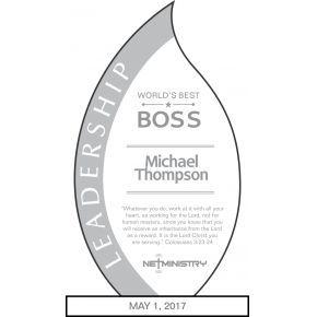 Leadership Award Wording (#453-2)