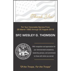 Military Thank You Award  (#345-1)