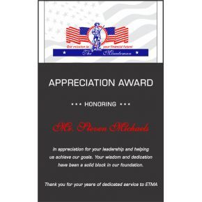 Military Sergeant Thank You Award  (#345-2)