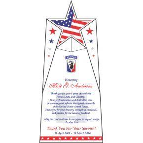 Armed Forces Appreciation Wording  (#335-2)